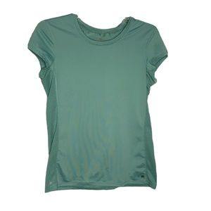 Alo Yoga Large Green Mesh Coolfit Athletic top tee
